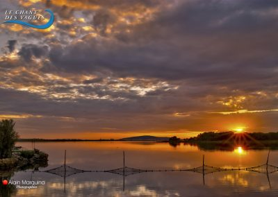 Coucher de soleil sur l'étang d'Ingril